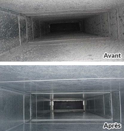 Conduits d'air - Avant/Après